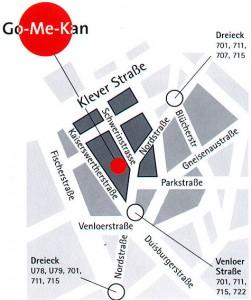Sportcenter Go-Me-Kan Wegbeschreibung